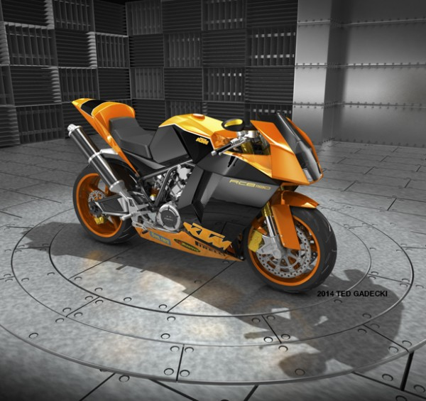 KTM RC8 • 3D Illustration